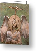 Thorns Greeting Cards - The Jaded Angel Greeting Card by Ethan Harris