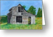 "\\\""haunted House\\\\\\\"" Pastels Greeting Cards - The Last Stage Stop Greeting Card by Mendy Pedersen"