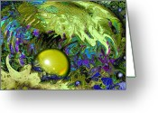 Surge Greeting Cards - The pearl Greeting Card by Anne Weirich