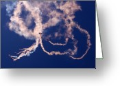 Skydiving Greeting Cards - The Sky Painting Greeting Card by Angel  Tarantella