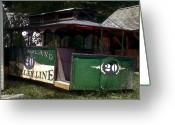 New England Digital Art Greeting Cards - The Trolley Out Back Greeting Card by RC DeWinter