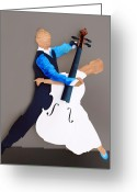 Surrealism Sculpture Greeting Cards - The Waltz Greeting Card by Steve Karol