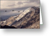 Superhornet Greeting Cards - Three Amigos Greeting Card by Angel  Tarantella