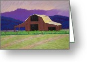 Old Barn Pastels Greeting Cards - To Late Greeting Card by Cynthia Riley