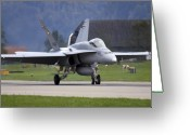 Superhornet Greeting Cards - Touch down Greeting Card by Angel  Tarantella