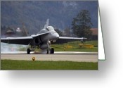 Superhornet Greeting Cards - Touchdown Greeting Card by Angel  Tarantella