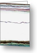 Horizontal Lines Digital Art Greeting Cards - Transience Greeting Card by Andy  Mercer
