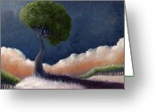 Hedge Greeting Cards - Tree over the Big Black Greeting Card by Ethan Harris