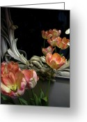 Vari Buendia Greeting Cards - Tulips Greeting Card by Vari Buendia