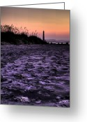 Light House Greeting Cards - Turbulant Sands Greeting Card by Dustin K Ryan