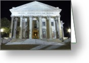 Historic Greeting Cards - United States Custom House Greeting Card by Dustin K Ryan