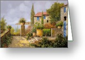 Landscape Greeting Cards - Uno Sguardo Sul Mare Greeting Card by Guido Borelli