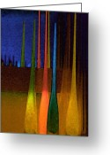 Stylized Art Greeting Cards - Venetian Glass Greeting Card by Lynn Andrews