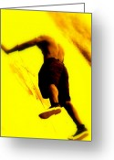Athletic Digital Art Greeting Cards - Venice Beach Muscle Builder Greeting Card by Funkpix Photo  Hunter