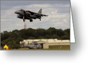 Afterburner Greeting Cards - Vertical Take-off Greeting Card by Angel  Tarantella