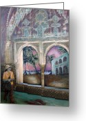 Barbara Nesin Greeting Cards - View of Hispaniola from the Alcazar Greeting Card by Barbara Nesin