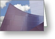 Philharmonic Greeting Cards - Walt Disney Concert Hall Los Angeles  CA Greeting Card by Lynn Andrews