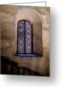 Convent Greeting Cards - Window in Lace Greeting Card by Olden Mexico