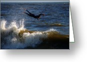 Clayton Greeting Cards - Wipe Out Greeting Card by Clayton Bruster