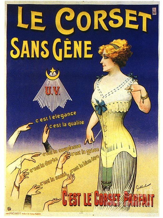 1890s France Womens Underwear Corsets Print by The Advertising Archives