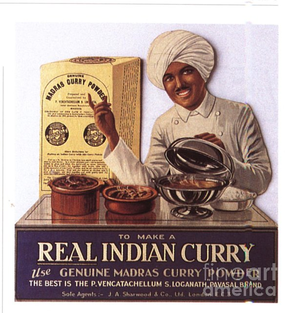1910s Uk Indian Food Curry Warning - Print by The Advertising Archives