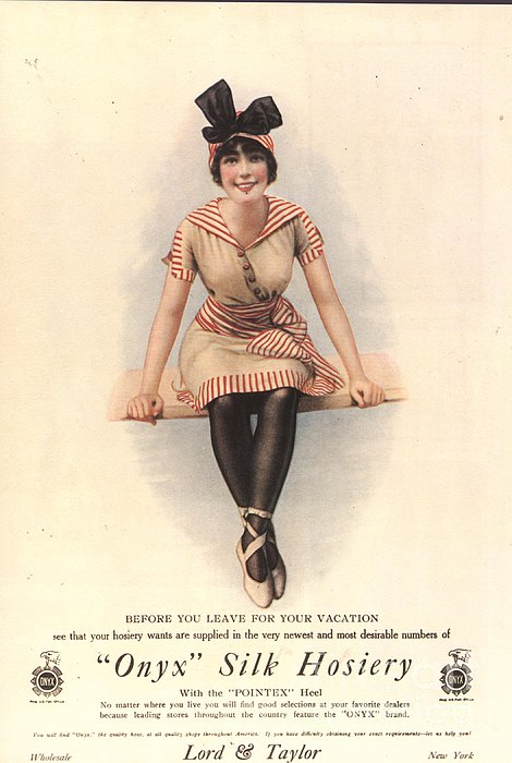 1915 1910s Usa Onyx Silk Stockings Print by The Advertising Archives