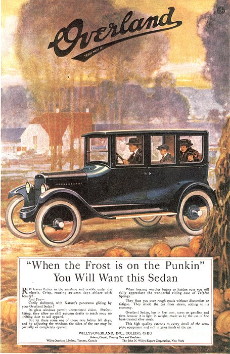 1920s Usa Overland Cars Print by The Advertising Archives
