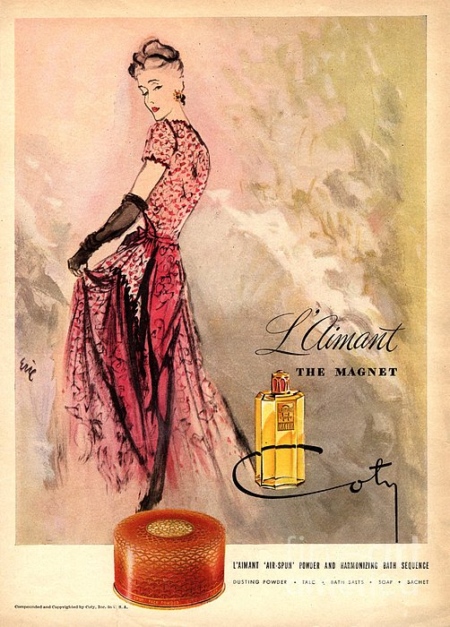 1940s Usa Coty   Laimant Womens Print by The Advertising Archives