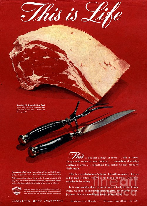 1940s Usa Meat Print by The Advertising Archives