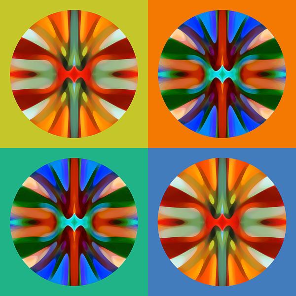 Abstract Circles And Squares 2 Print by Amy Vangsgard