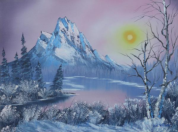 Blue Winter's Sunglow Print by Bob Williams