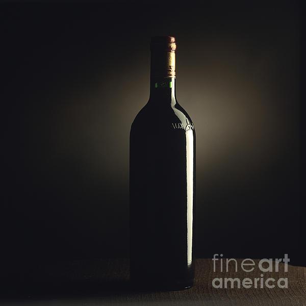Bottle Of Bordeaux Wine Print by Bernard Jaubert