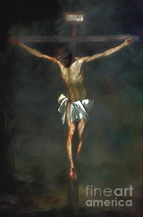 Crucifixion Print by Andrzej Szczerski