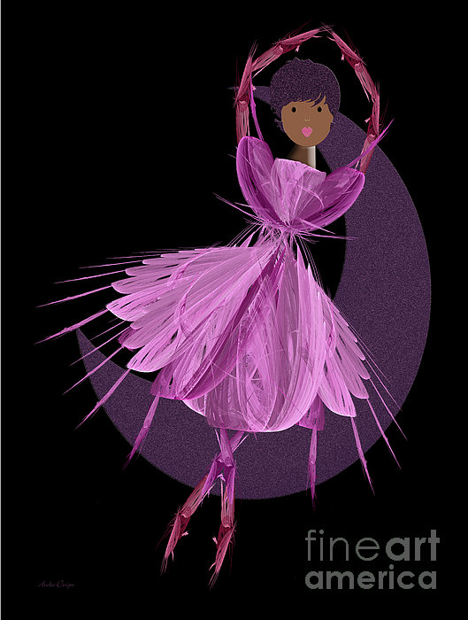 Dancing With The Moon B Print by Andee Design