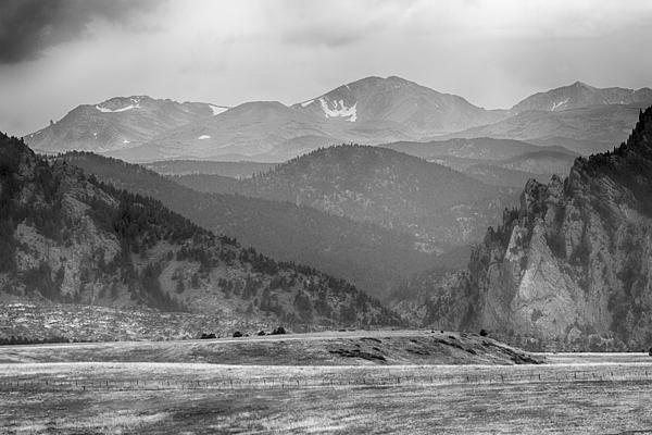 Eldorado Canyon And Continental Divide Above Bw Print by James BO  Insogna