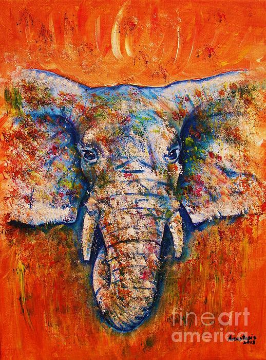 Elephant Print by Anastasis  Anastasi