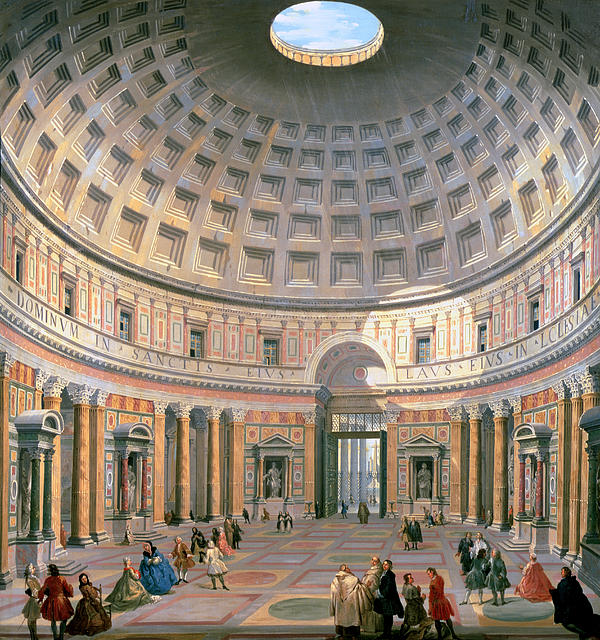 Interior Of The Pantheon Print by Panini
