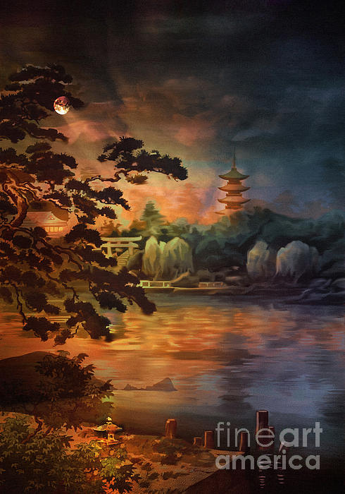 Magic Of Japanese Gardens. Print by Andrzej Szczerski