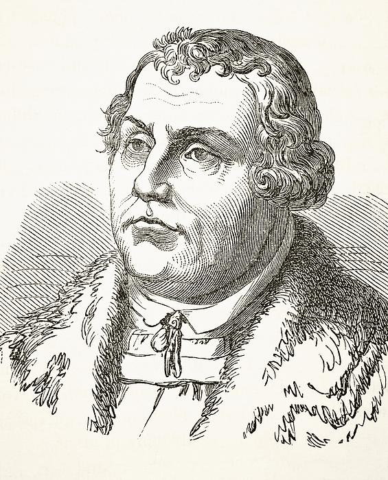 Martin Luther  Print by English School
