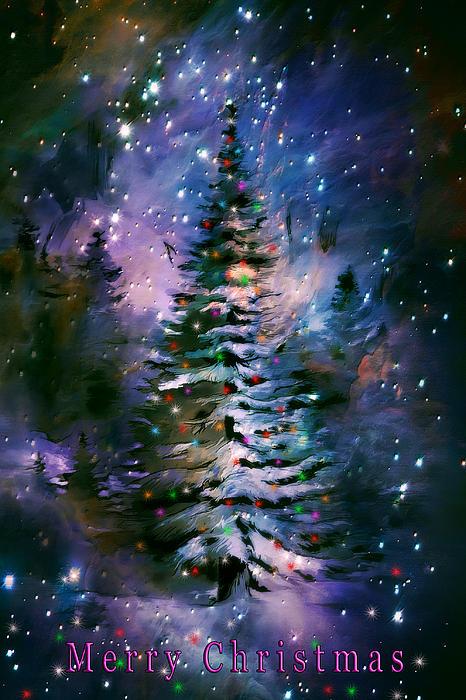 Merry Christmas Print by Andrzej Szczerski