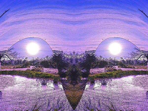Mirrored Ego Print by Yolanda Raker