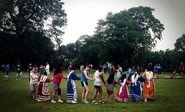 Oklahoma Choctaw Youth Dancing Print by R McLellan
