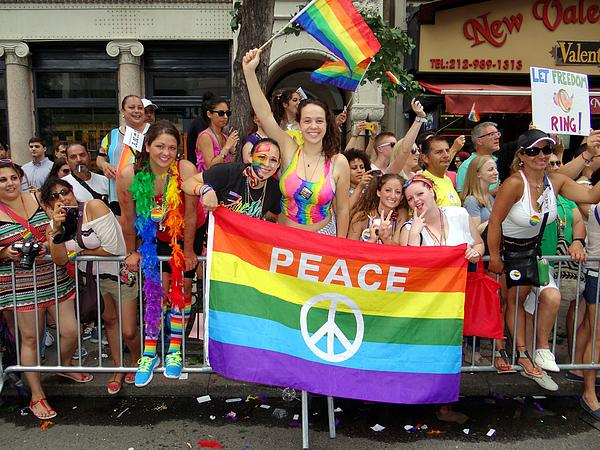 Peace And Pride Print by Ed Weidman