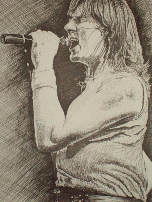 Portrait Of Joe Elliott Print by Chris Shepherd