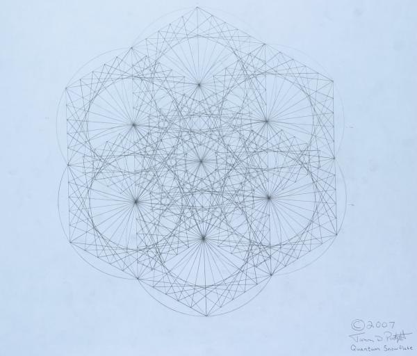 Quantum Snowflake Print by Jason Padgett