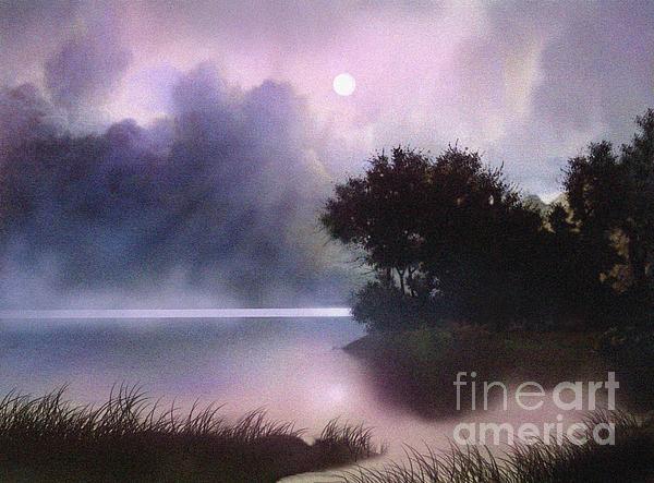 Rain Lake Print by Robert Foster