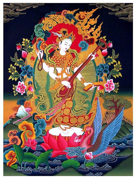 Saraswati 3 Print by Lanjee Chee