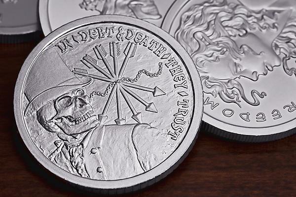 Silver Bullion Debt And Death Print by Tom Mc Nemar