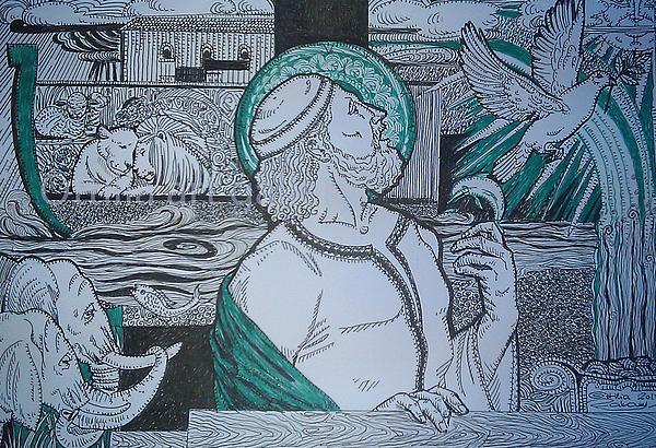 Story Of Noah Print by Ottilia Zakany