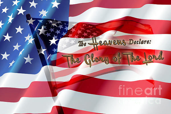 The Stars And Stripes Print by Beverly Guilliams
